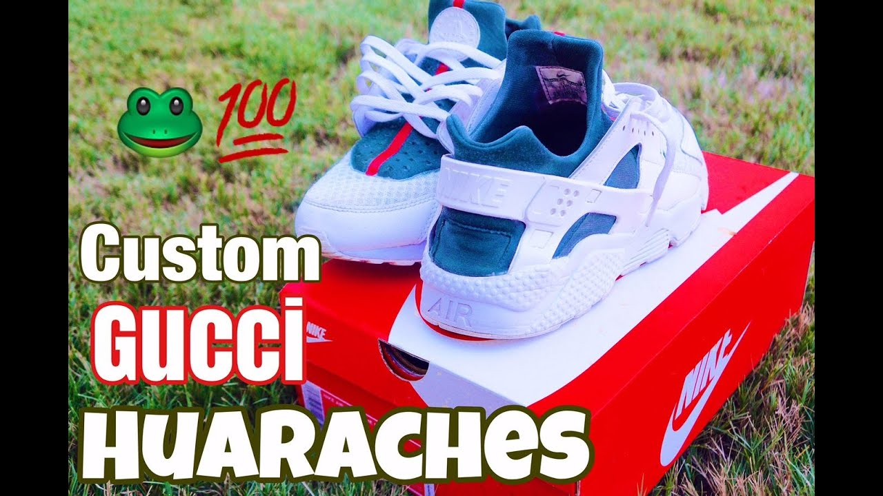 a824862f8ab1 Custom Huaraches (Gucci)