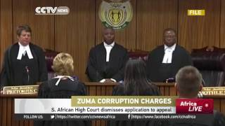 South African High Court dismisses President Zuma's application to appeal