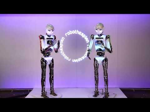 RoboThespians perform - I am not a robot
