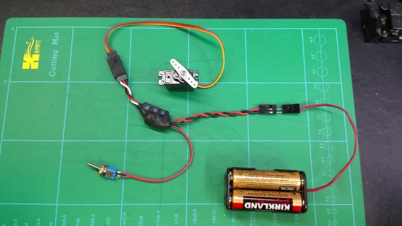 Toggle Switch Servo Positioner with Speed Control - YouTube