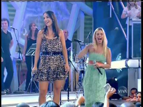 MART´NÁLiA IVETE SANGALO e CAROLiNA DIECKMANN no Estação Globo
