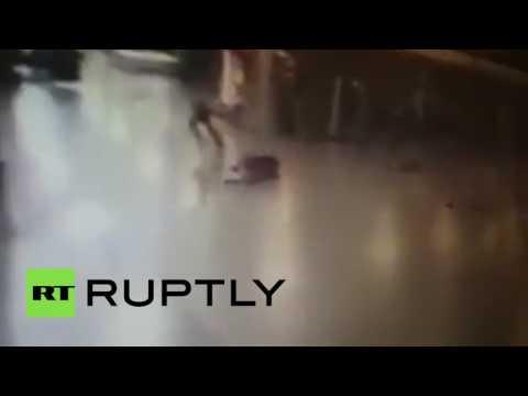 GRAPHIC: Police shoot Istanbul Ataturk airport attacker before he detonates himself (CCTV)