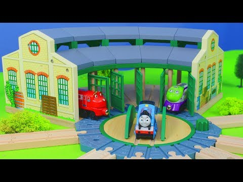 Thomas & Chuggington Zug Lokschuppen, Holz Züge & Spielzeugautos