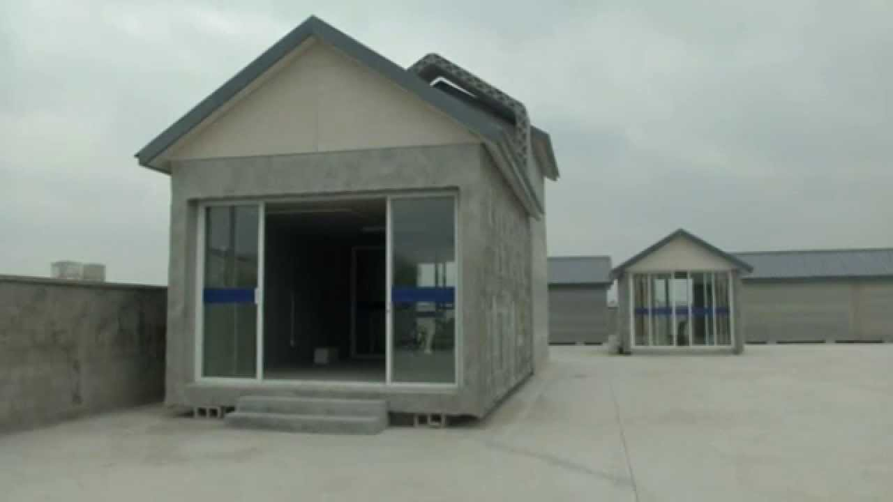 Chinese company uses 3d printer to build homes youtube for Build a 3d house online