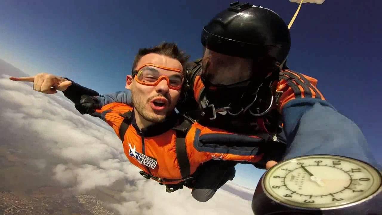 Salto de Paraqueda do Leonardo na Queda Livre Paraquedismo 31 07 2016