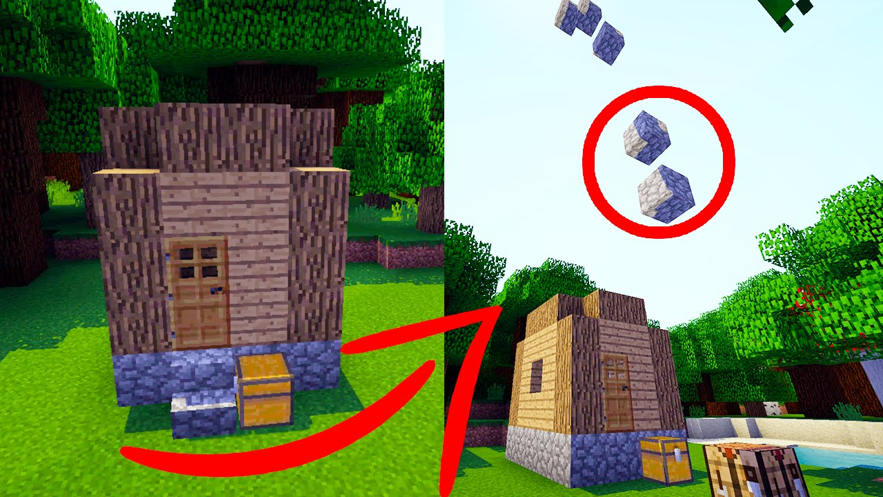 Self Building House In Minecraft   Animated Command Block House