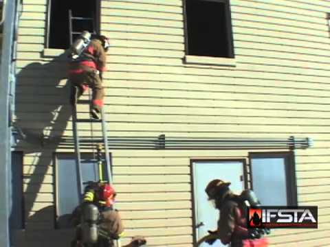Operating A Charged Attack Line From A Ladder Youtube