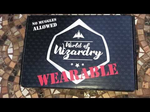 Harry Potter World of Wizardry WEARABLE Subscription Box Unboxing November 2017