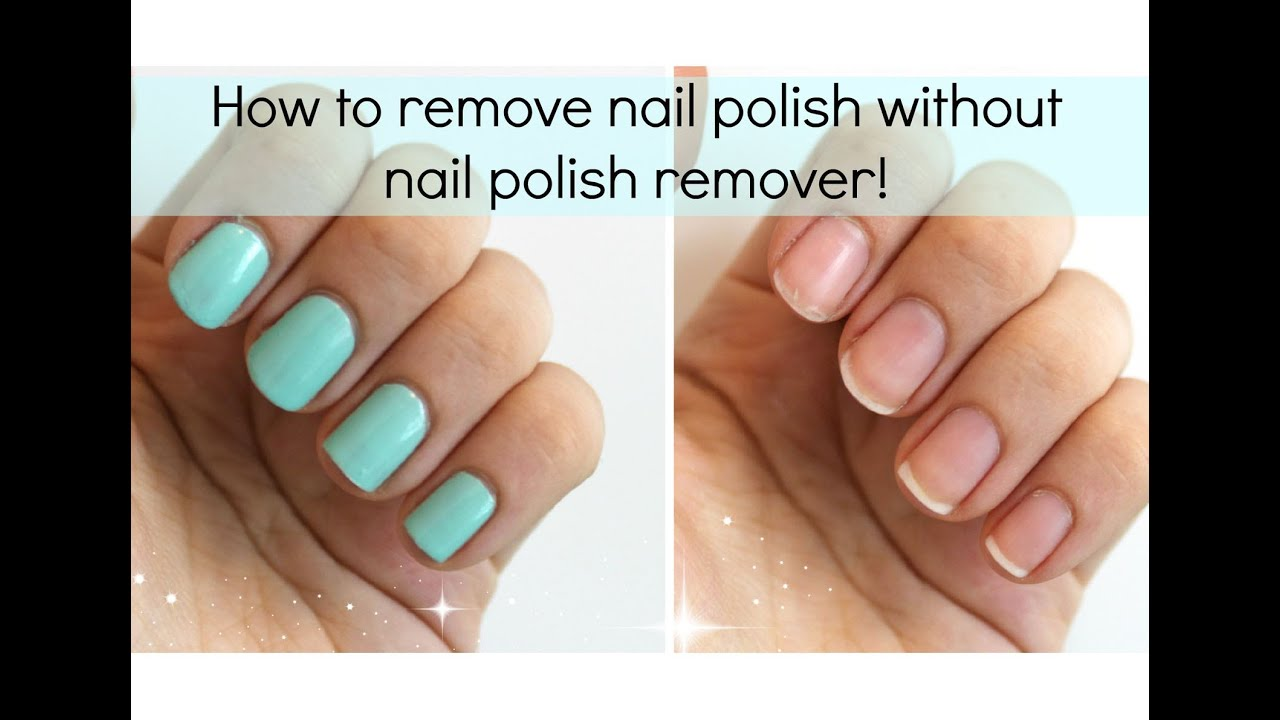 3 Ways To Remove Nail Polish WITHOUT Remover
