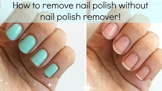 3 Ways To Remove Nail Polish WITHOUT Nail Polish Remover | Viki NailBeauty