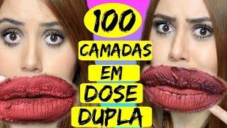 100 CAMADAS DE BATOM EM DOSE DUPLA! - Sisters Lellis