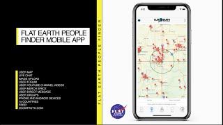Flat Earth People Finder Mobile App Promo. iPhone available now. #flatEarth #flatearthpeoplefinder