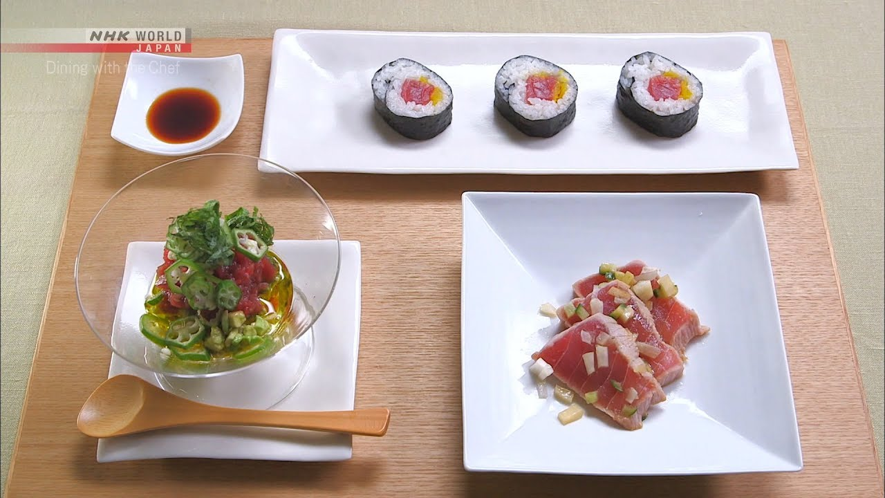 Photo of Chef Rika's Tuna Sashimi Three Ways [Japanese Cooking] – Dining with the Chef – video
