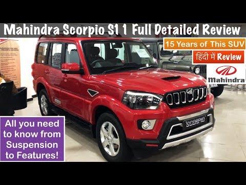 2018 Mahindra Scorpio S11 4WD Review Scorpio S3,5,7,11 Features,Interior,Exterior