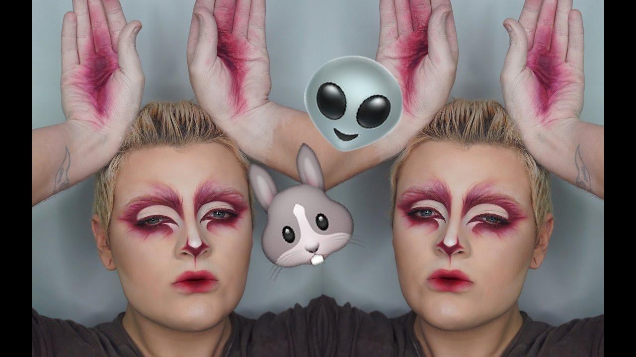 ALIEN BUNNY Halloween Makeup Tutorial | Mathu Andersen Inspired ...