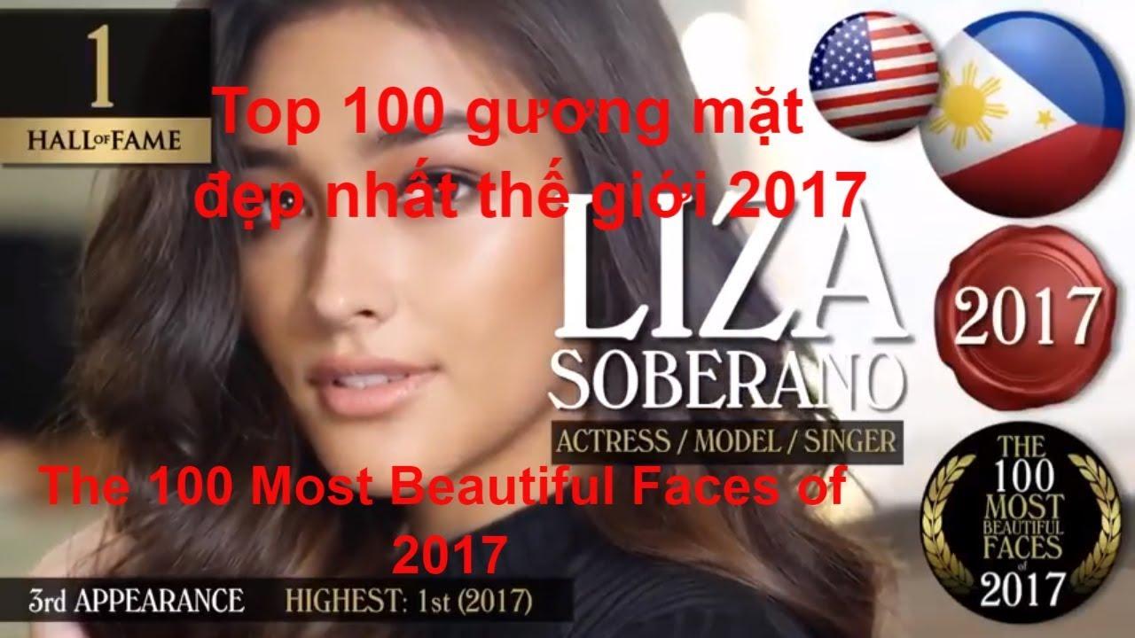 Top 100 gương mặt đẹp nhất thế giới 2017 - The 100 Most Beautiful Faces of  2017