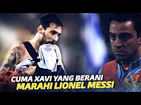 CUMAN XAVI YANG BERANI !! Inilah Hari Dimana Xavi Memarahi Lionel Messi