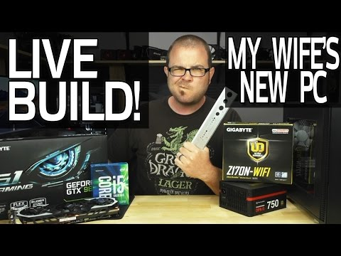 Live Gaming PC Build! My Wife's New Mini-ITX Computer