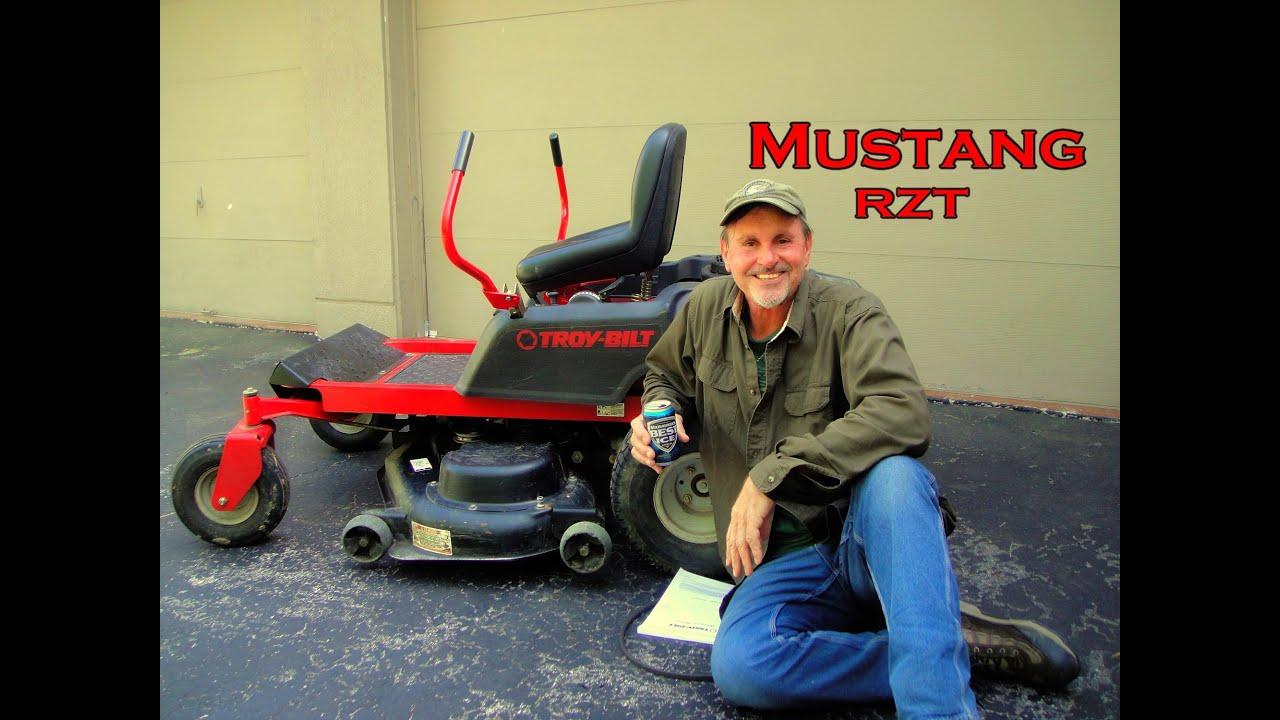 Mustang RZT; Troy-Bilt Lawn Mower, Replacing Drive Belt ...