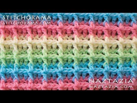 DIY Tutorial – How to Crochet Waffle Stitch – Stitchorama by Naztazia