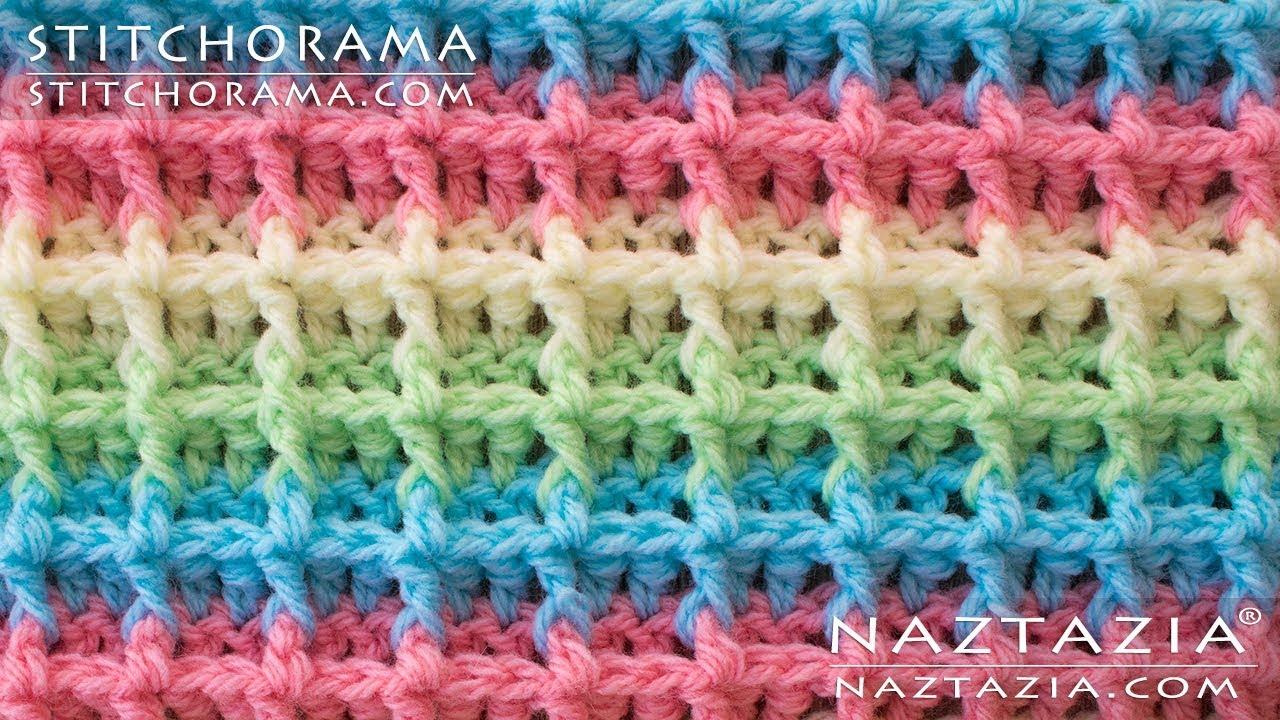 DIY Tutorial - How to Crochet Waffle Stitch - Stitchorama by ...