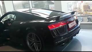 2015 Audi R8 V10 Plus 5.2 FSI Coupe Sound Revs Revving in Showroom