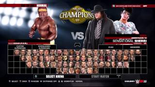 WWE 2K15 hulk hogan 90s vs undertaker 90s