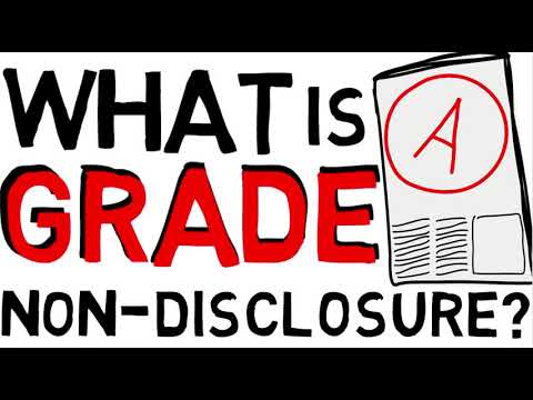 What is a Grade Non-Disclosure Policy?