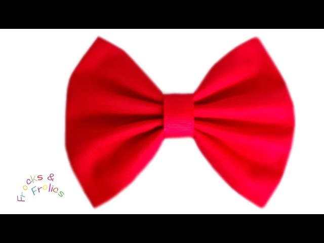 How to make/sew a  bow - Easy Sewing
