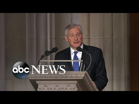 Presidential historian offers touching eulogy at Bush funeral