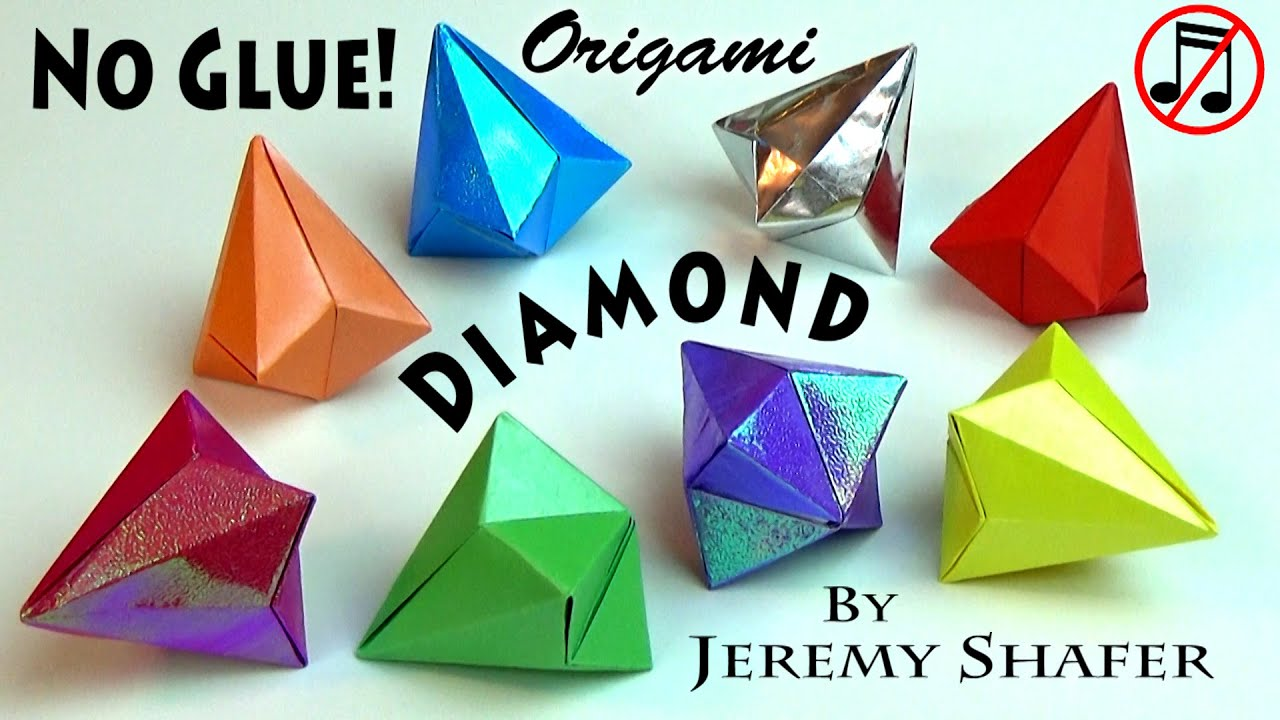 REAL Origami Diamond NO GLUE No Music Version