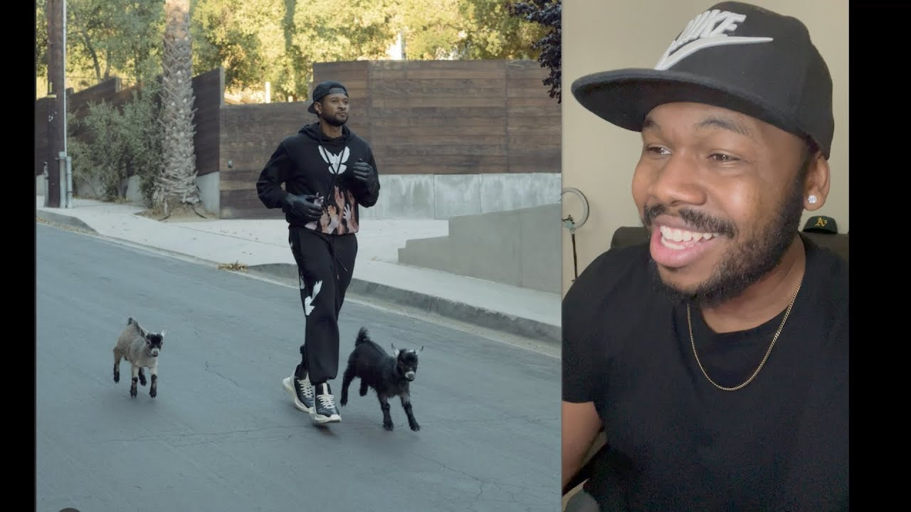 This video of R&B legend USHER walking with goats is trending!!   TFLA