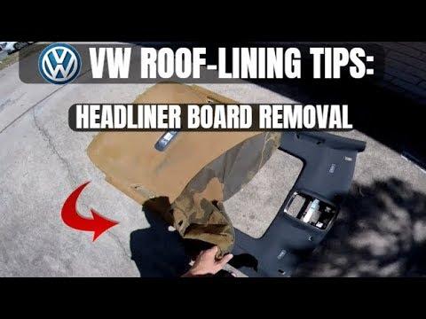 Removing VW Golf GTi Headliner Board Out The Car (volkswagen hatchback)