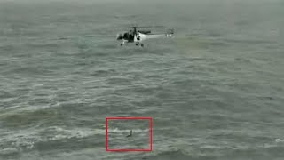 Indian Coast Guard helicopter rescues man from drowning off Goa | Viral Video | Oneindia News