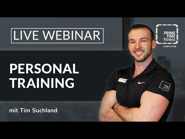 PRIME TIME Webinar: Personal Training