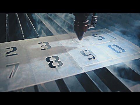 Изготовление трафарета цифр, лазерная резка ПЭТ, lasercutting stencil