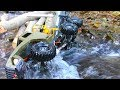 HEAVY RC CRASH IN THE RIVER! COOL RC VEHICLES IN MOTION! AMAZING TRUCKS