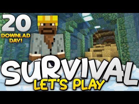 MASSIVE AQUARIUM TUNNEL!!!  Survival Lets Play Ep 19  Minecraft Bedrock PE W10 XB1
