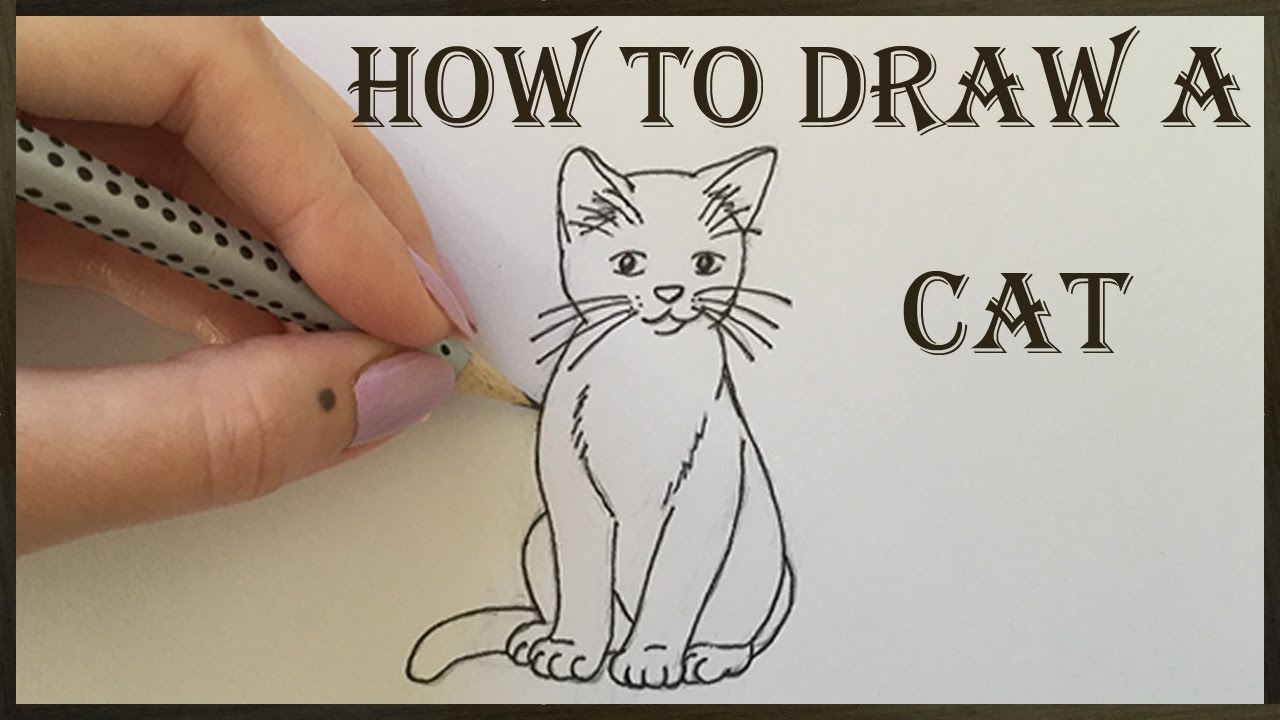 How To Draw A Cat And Kitten