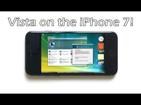 Windows Vista on the iPhone 7!
