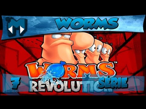 WORMS REVOLUTION COOP #7 - JOGADAS MALDOSAS!  / Gameplay 1080p  PT-BR