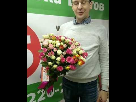 Букет 25 кустовых роз г.Челябинск