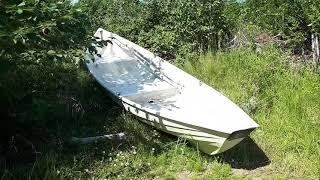 Een boot ondersteboven