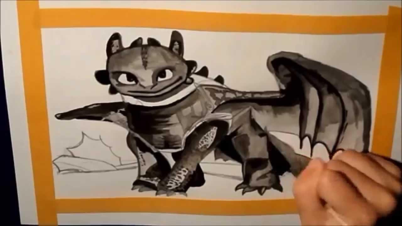 Como dibujar a Desdentado de Como entrenar a tu dragon 2 // How to ...