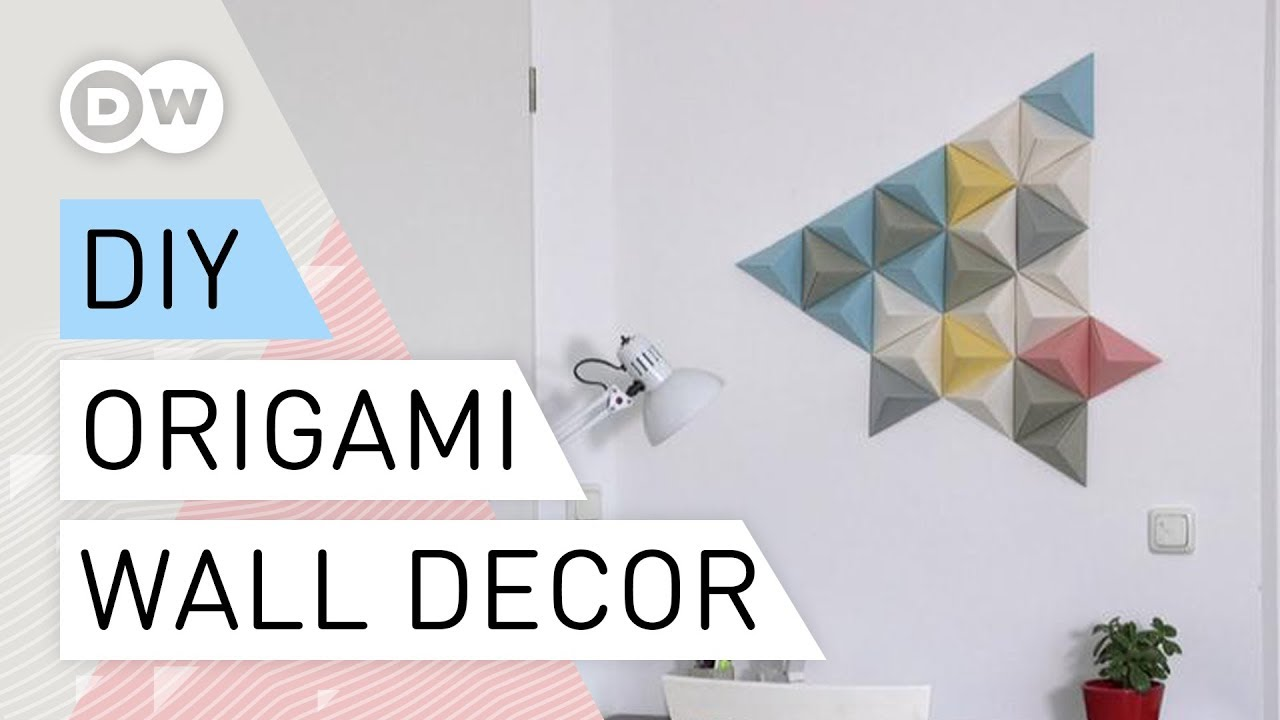 Origami Wall Decor Diy Tutorial Quick And Easy Paper Folding Art Origami Decorating Ideas
