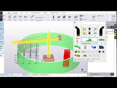 [Tekla Structures] Mô phỏng lắp dựng với Crane Console