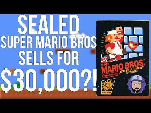 Sealed Super Mario Bros for NES Sells for OVER $30,000?! | RGT 85