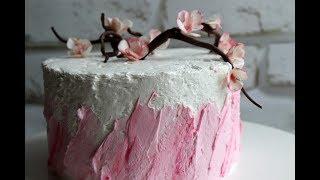 как сделать ВЕТОЧКУ САКУРЫ - декор для торта