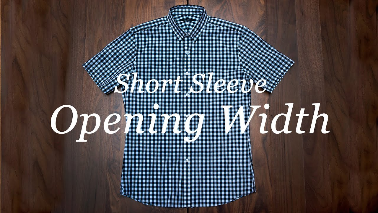 0dc461ff8e8 How To Measure Your Shirt  Short Sleeve Opening Width. Proper Cloth
