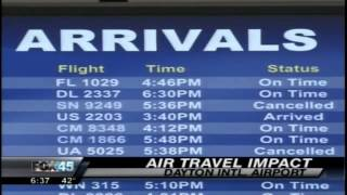Flights Cancelled at Dayton International Airport Due to Sandy